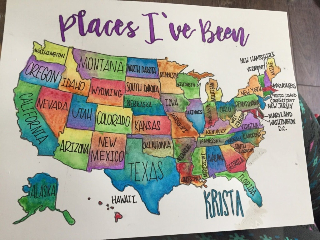 A Couple Of Weeks Ago I Saw A Sponsored Post On Facebook That - Florida Scratch Off Map