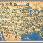 A Good-Natured Map Of The United States Setting Forth The Services – Greyhound Map California
