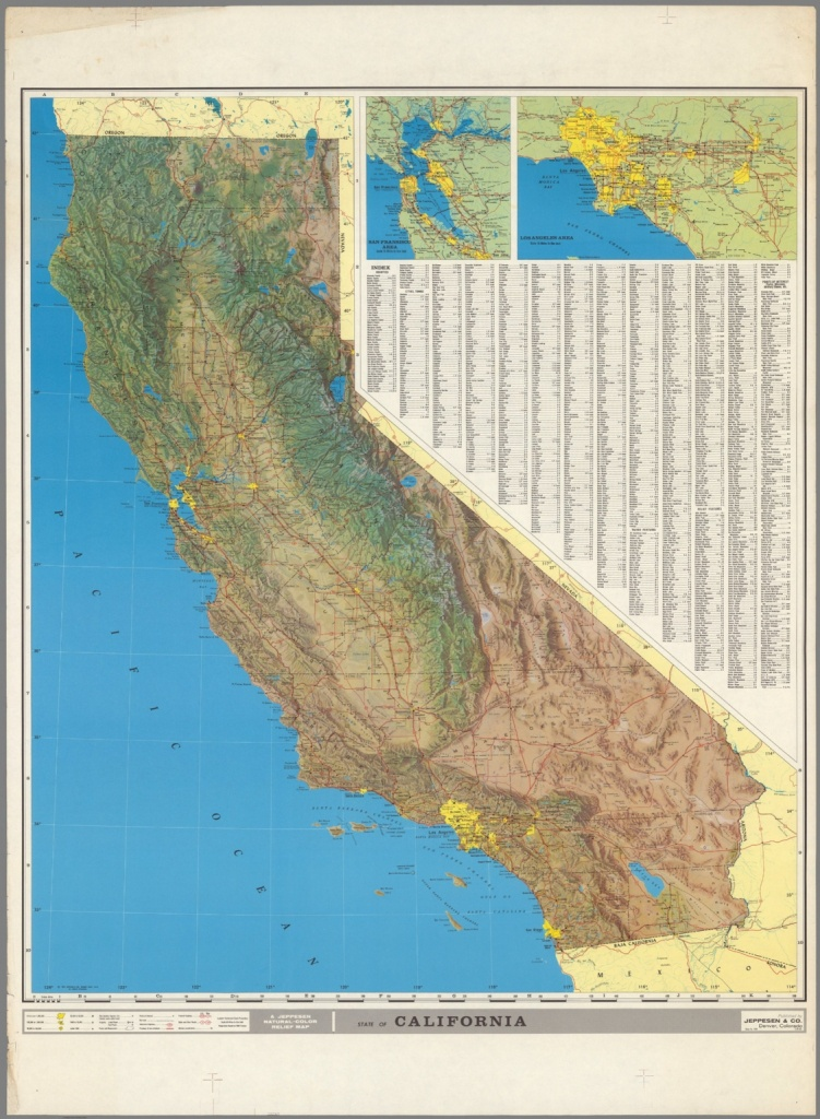 A Jeppesen Natural - Color Relief Map - David Rumsey Historical Map - California Relief Map Printable
