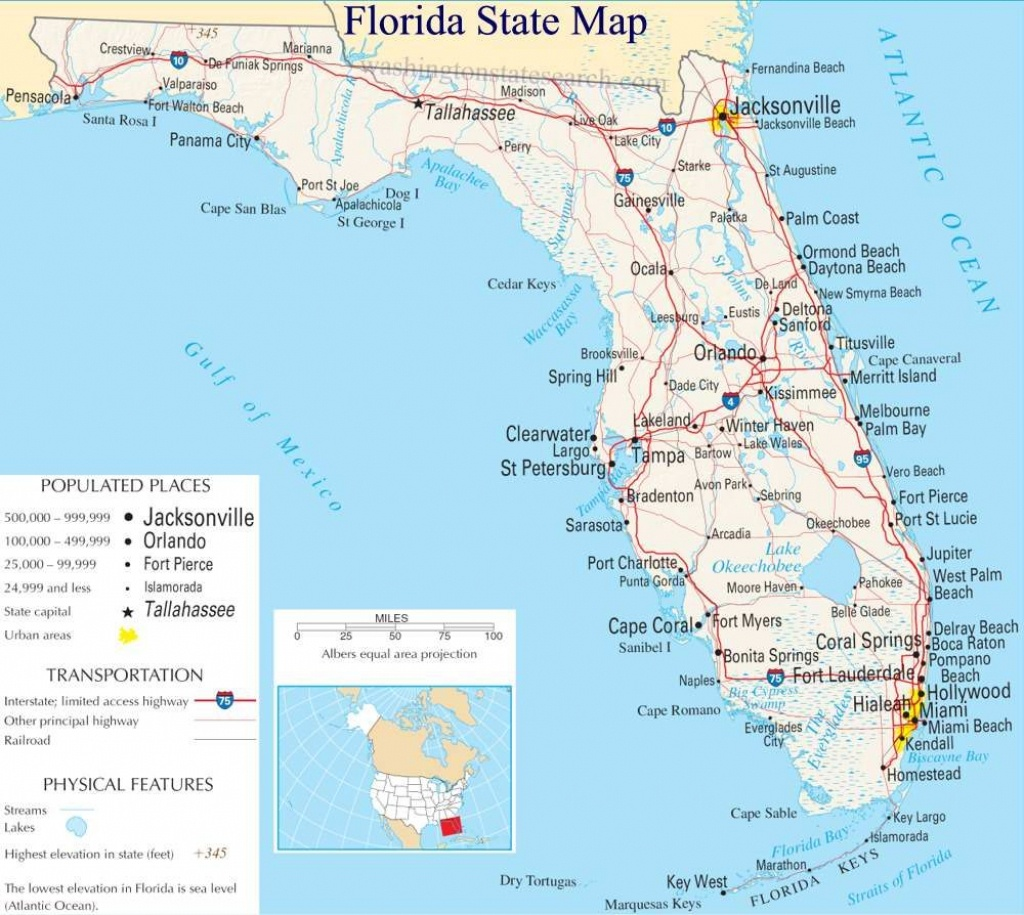 A Large Detailed Map Of Florida State | For The Classroom In 2019 - Best Beaches Gulf Coast Florida Map
