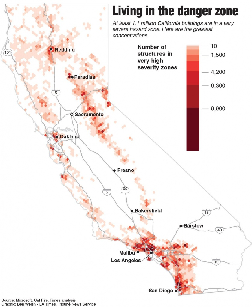 A Million California Buildings Face Wildfire Risk. 'extraordinary - California Wildfire Risk Map