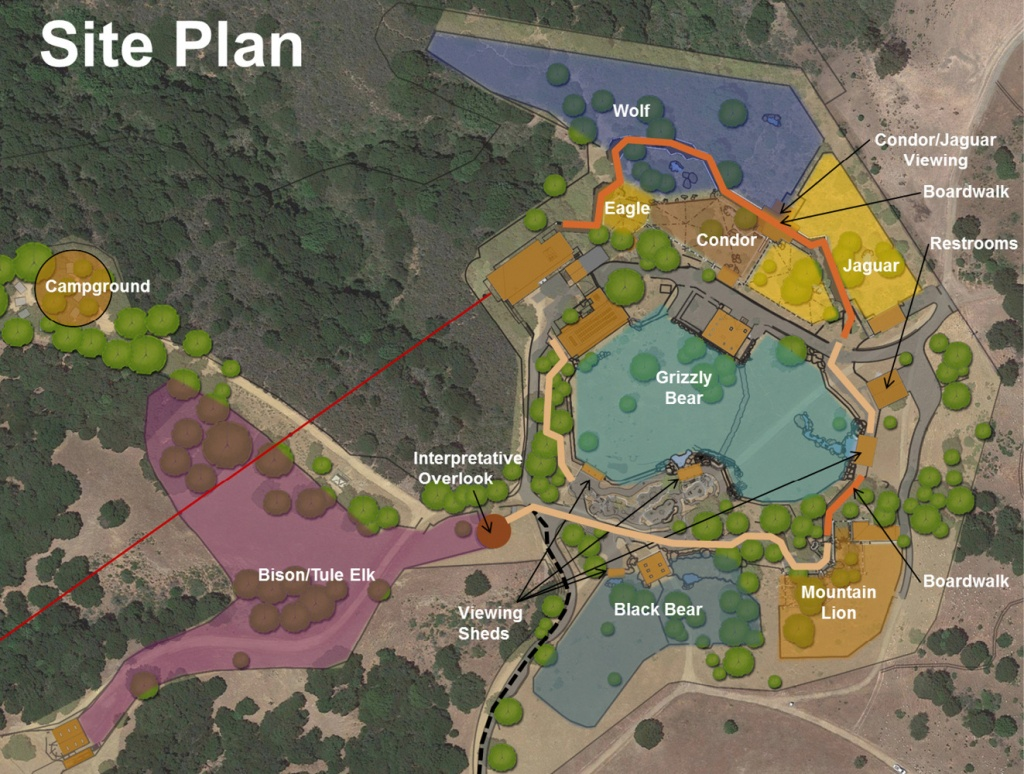 A Partnership For The Animals | Noll & Tam - Oakland Zoo California Trail Map