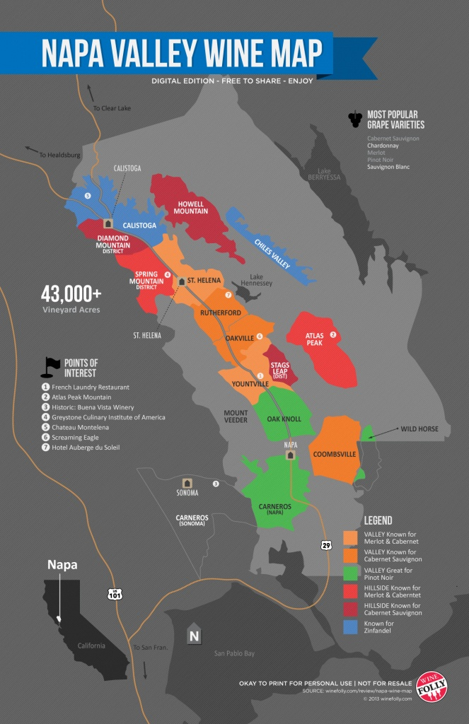A Simple Guide To Napa Wine (Map) | Wine Folly - California Wine Map