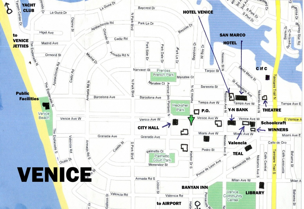 A Tour Of Venice Florida - Map Of South Venice Florida