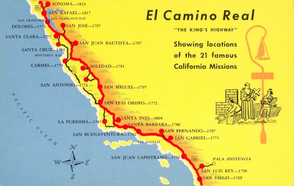 A Trail Map Of Some Of The Amazing Spanish Missions Across - California Missions Map