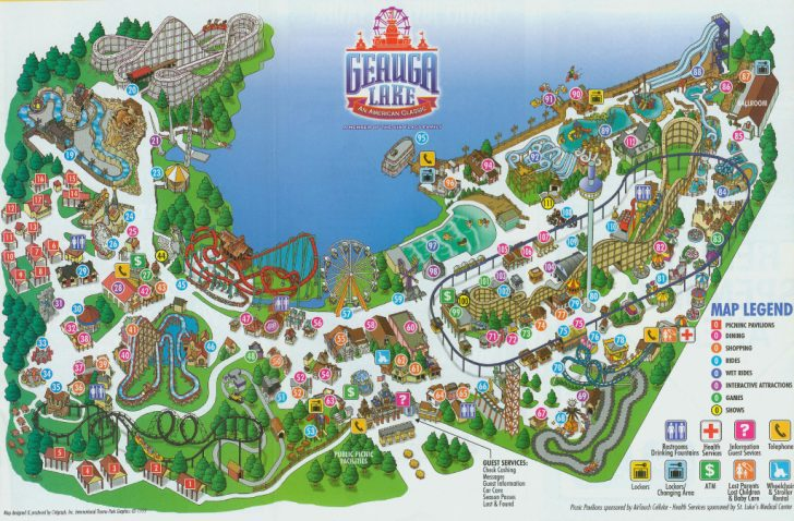 Six Flags New England Map Printable