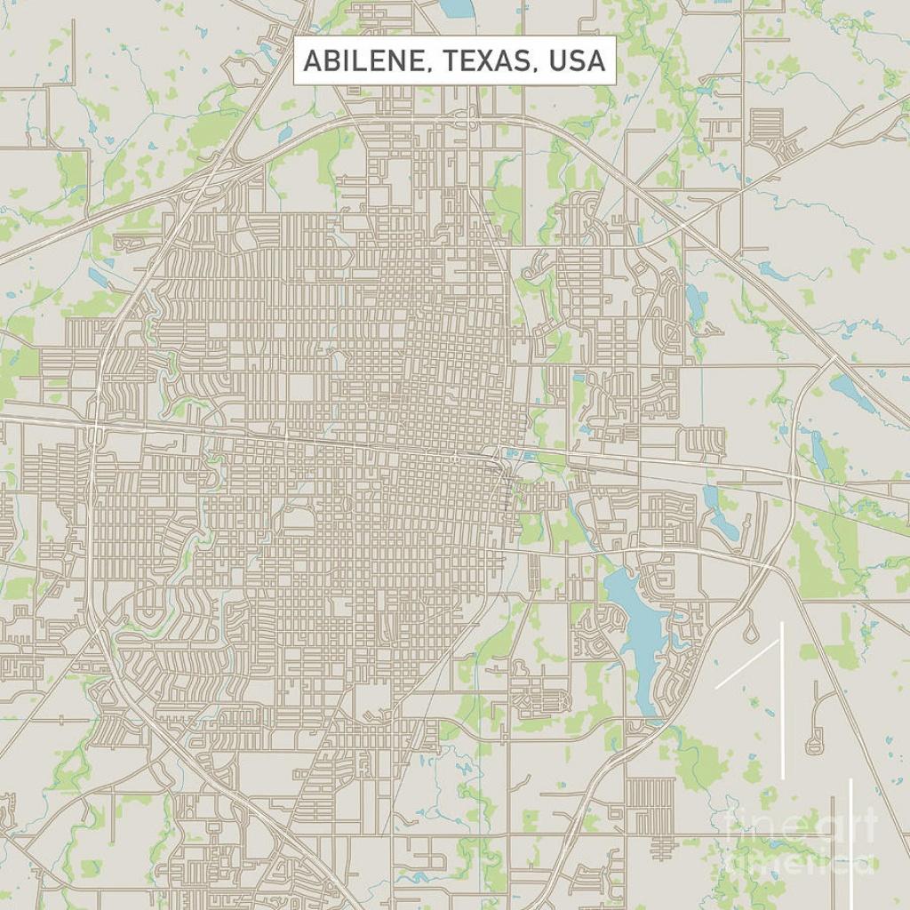 Abilene Texas Us City Street Mapfrank Ramspott - Texas Street Map