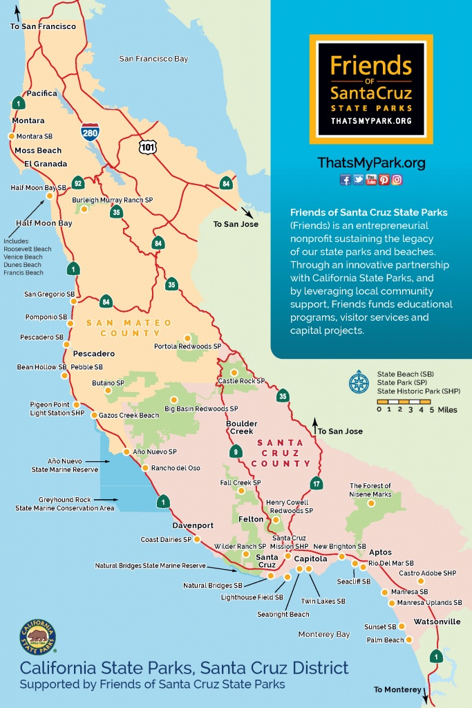 About Friends Of Santa Cruz State Parks - California State Campgrounds Map