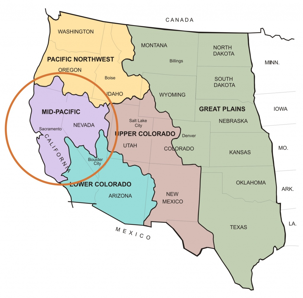 About Us | Mid-Pacific Region - Map Of Mid California