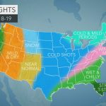 Accuweather's Us Winter Forecast For 2018 2019 Season   Weather Heat Map California