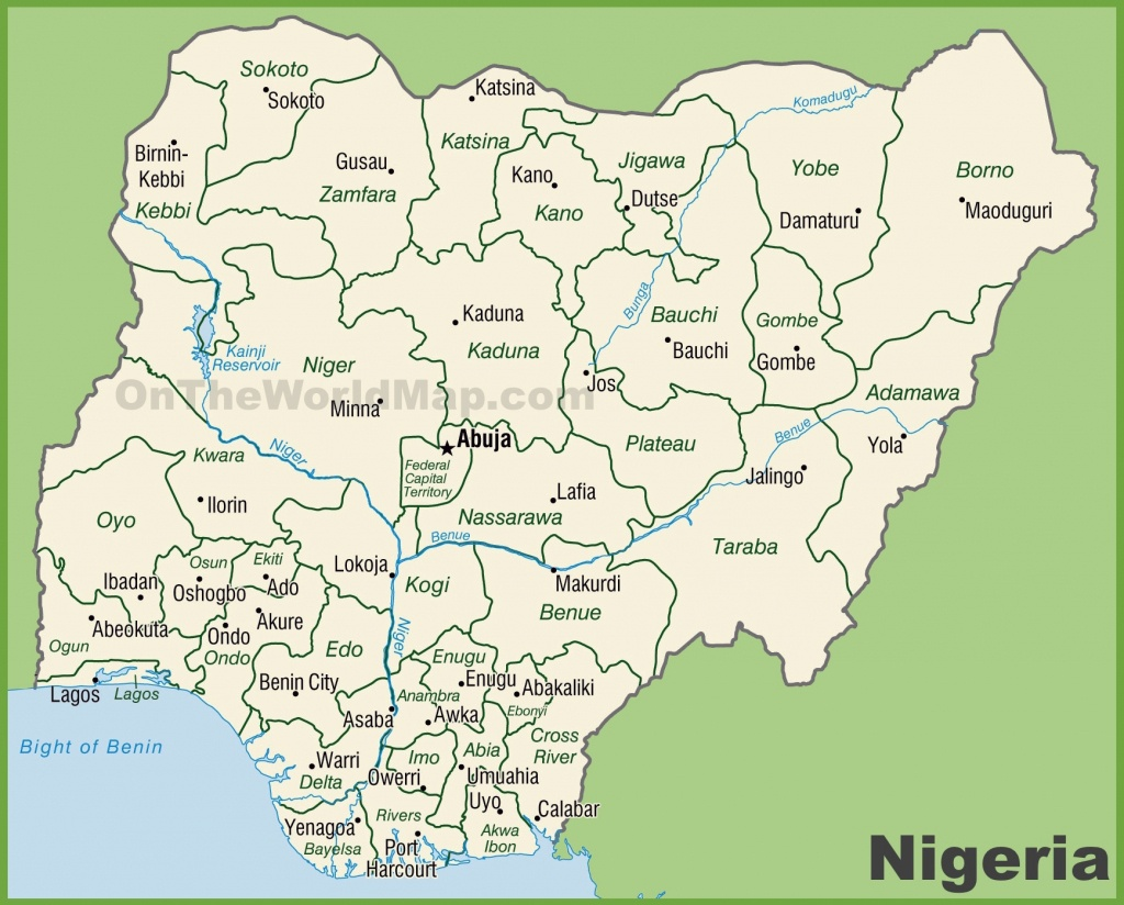 Administrative Divisions Map Of Nigeria - Printable Map Of Nigeria