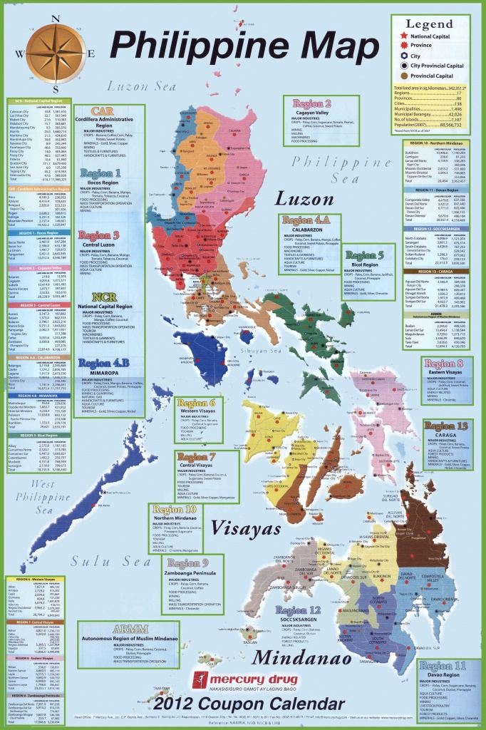 Administrative Divisions Map Of Philippines - Free Printable Map Of The Philippines