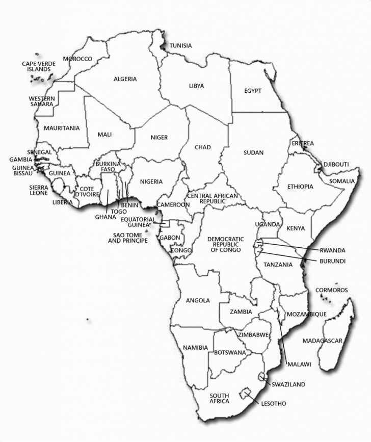 Blank Political Map Of Africa Printable