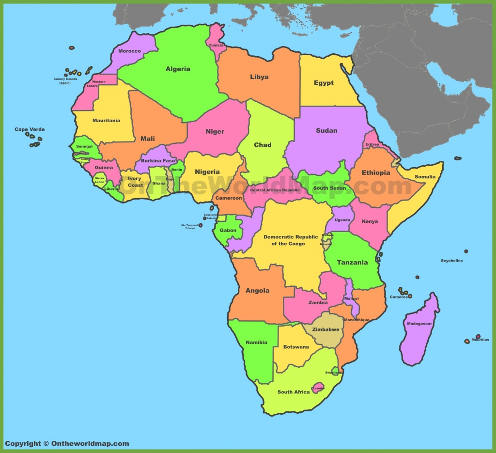 Africa Map | Maps Of Africa - Free Printable Political Map Of Africa