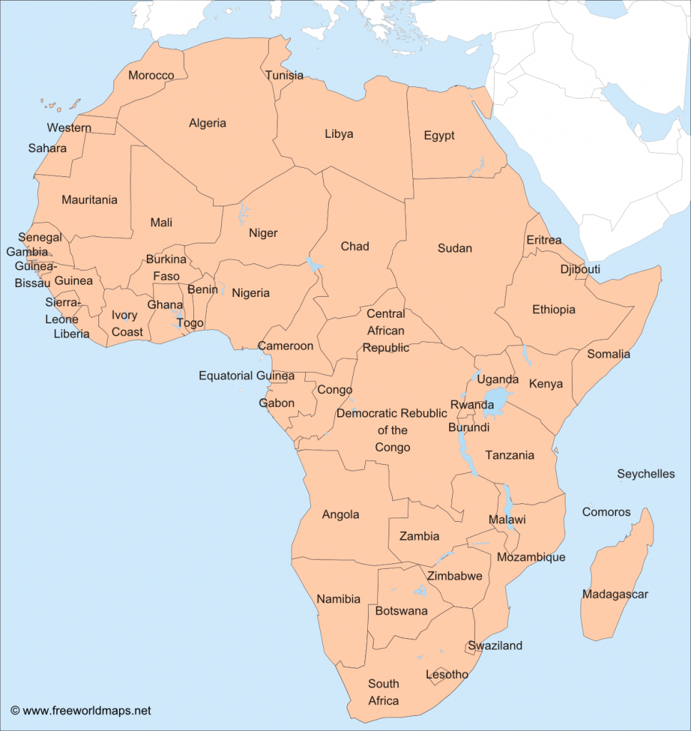Africa – Printable Maps –Freeworldmaps - Printable Map Of Africa With Countries Labeled
