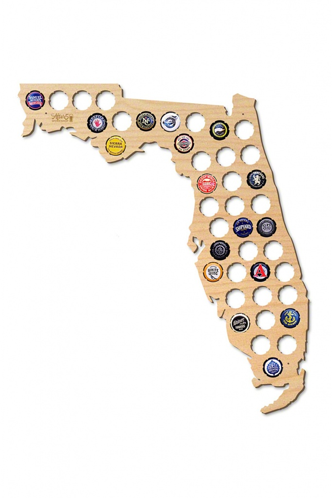 After 5 | Florida Beer Cap Map | Nordstrom Rack - Florida Beer Cap Map