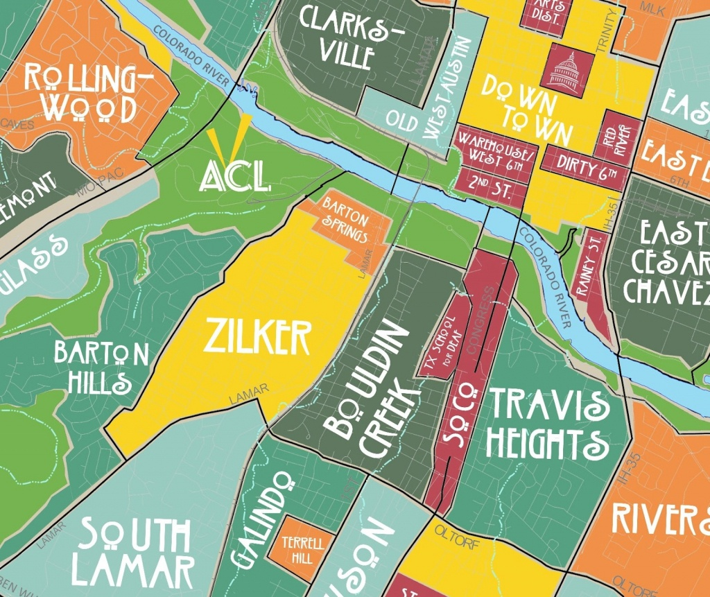 Aggregated Maps Of Austin — Austin's Atlas - Austin Texas Map Downtown