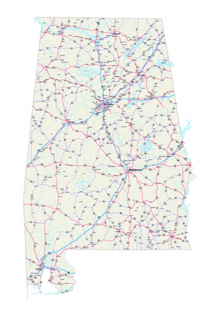 Alabama Maps - Free Printable Alabama Road Maps - Printable Alabama Road Map