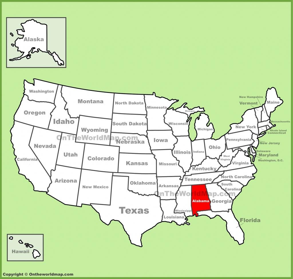 Alabama State Maps   Usa   Maps Of Alabama (Al) - Us Map Of Alabama And Florida