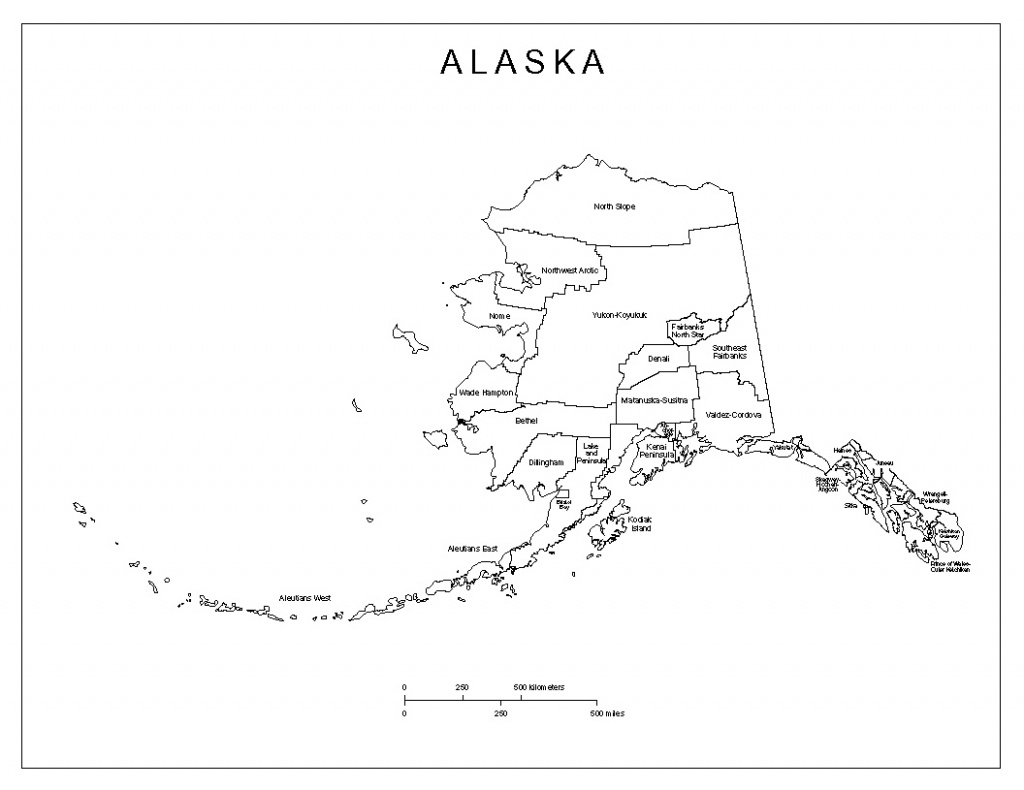 Alaska Labeled Map - Printable Map Of Alaska