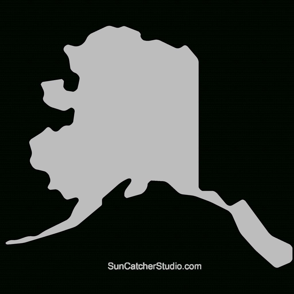 Alaska - Map Outline, Printable State, Shape, Stencil, Pattern - Alaska State Map Printable