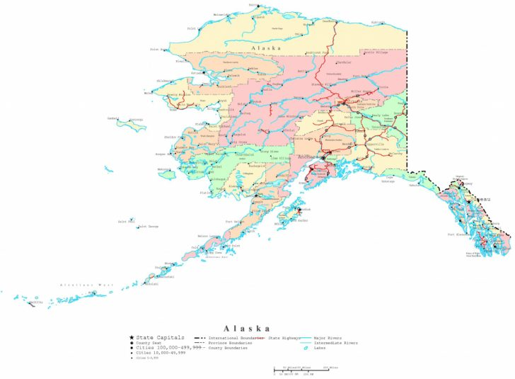 Free Printable Map Of Alaska
