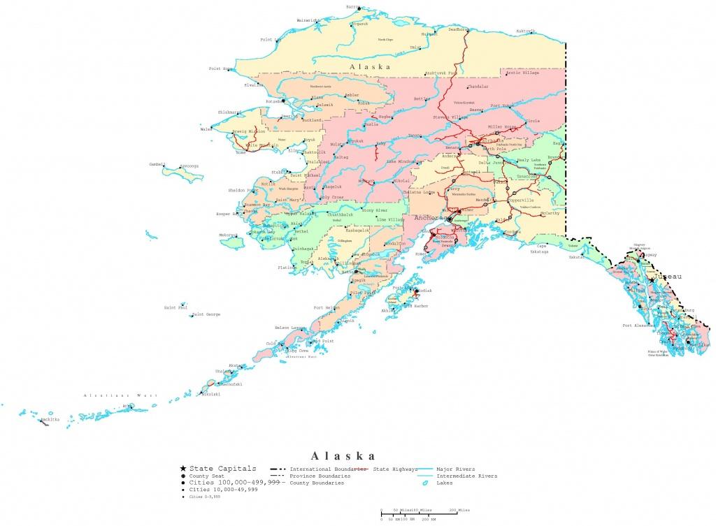 Alaska Printable Map - Free Printable Map Of Alaska