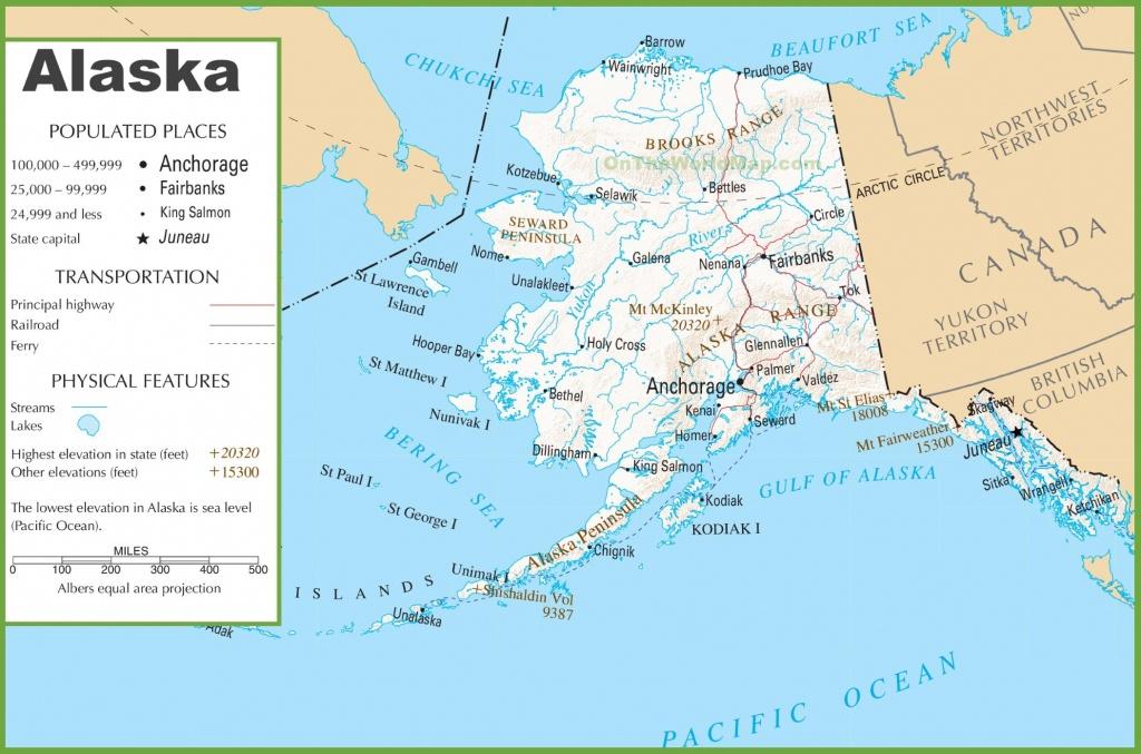 Alaska Road And Railroad Map - Printable Map Of Alaska