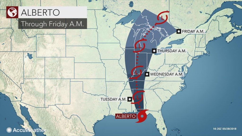 Alberto Slams Into Florida's Panhandle With Wind-Swept Flooding Rain - Florida Weather Map With Temperatures