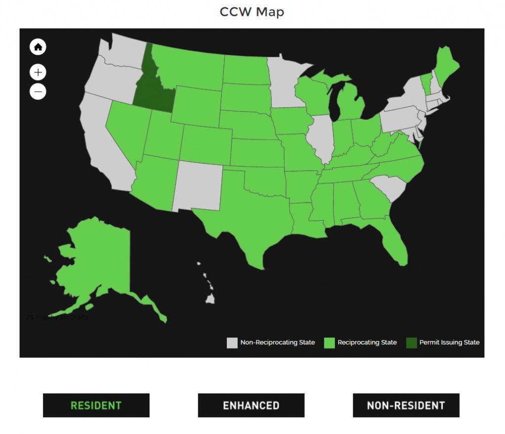 Alien Gear Holsters - Florida Non Resident Ccw Reciprocity Map