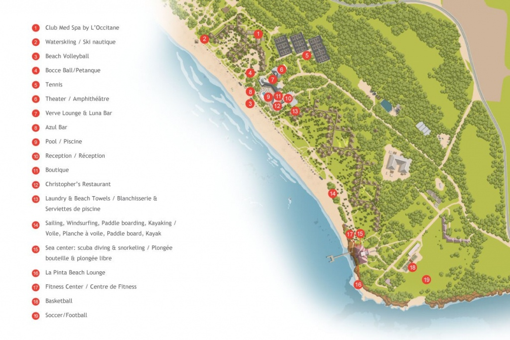 All Inclusive Resort In The Bahamas | All Inclusive Vacations With - Club Med Florida Map