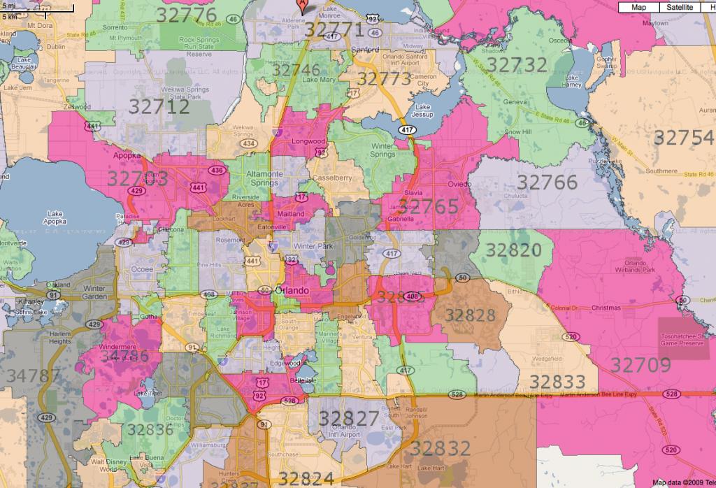 All Orlando Zip Codes | [Map] - Central Florida Zip Code Map