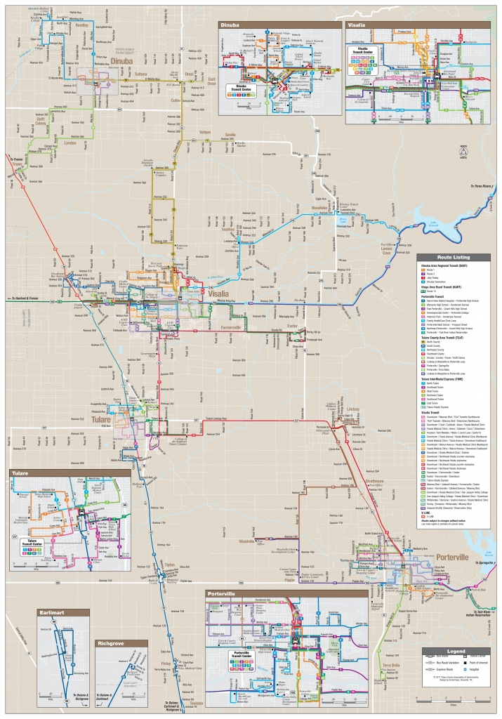 All Tulare County Bus Route Maps, Schedules, And Timetables | Tcag - California Truck Routes Map