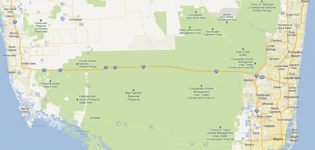 Alligator Alley Florida Map | Florida Map 2018 - Alligators In Florida Map