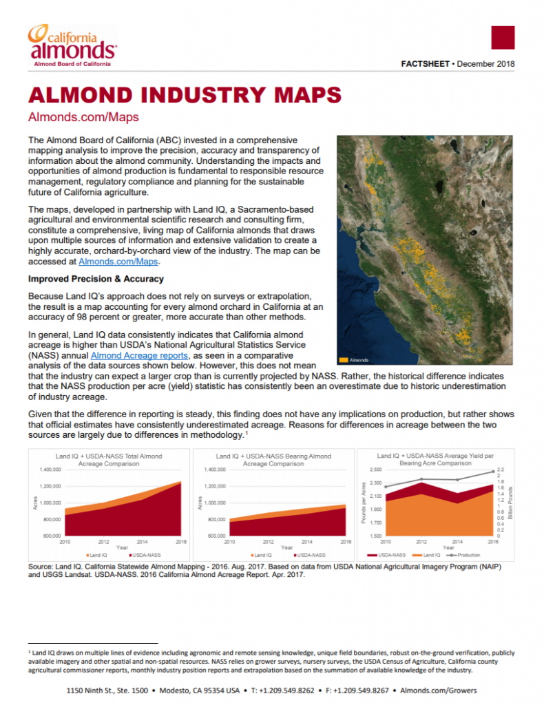 Almond Industry Maps   California Almonds - Your Favorite Easy Snack - California Almond Farms Map