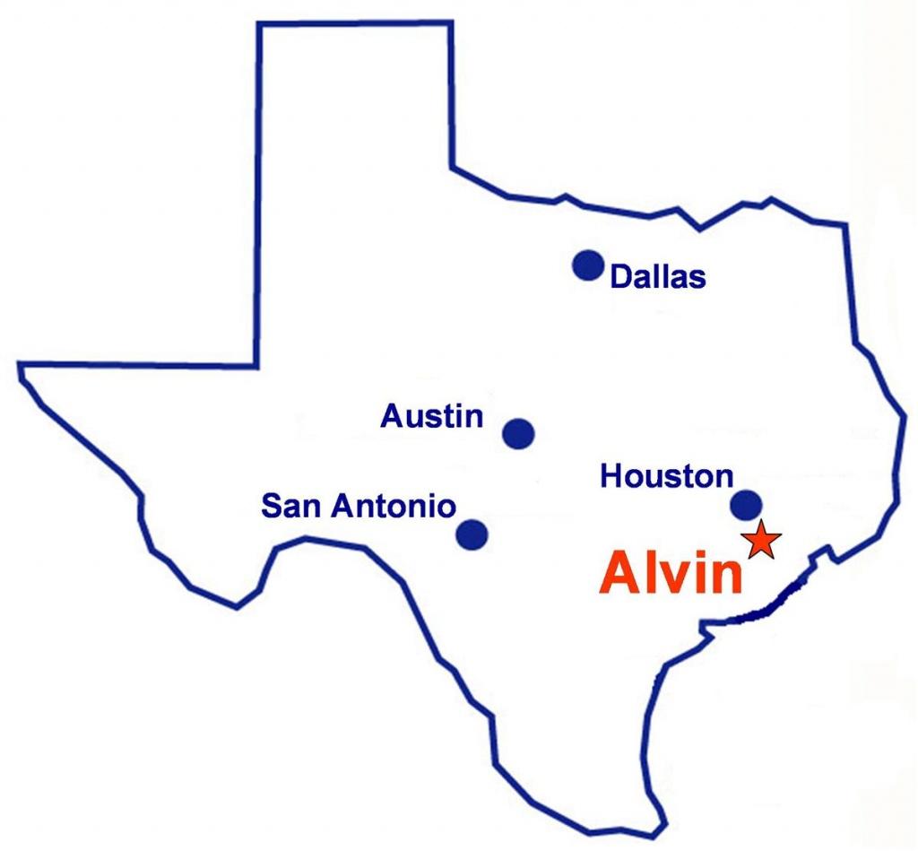 Alvin, Texas - Alvin Texas Map