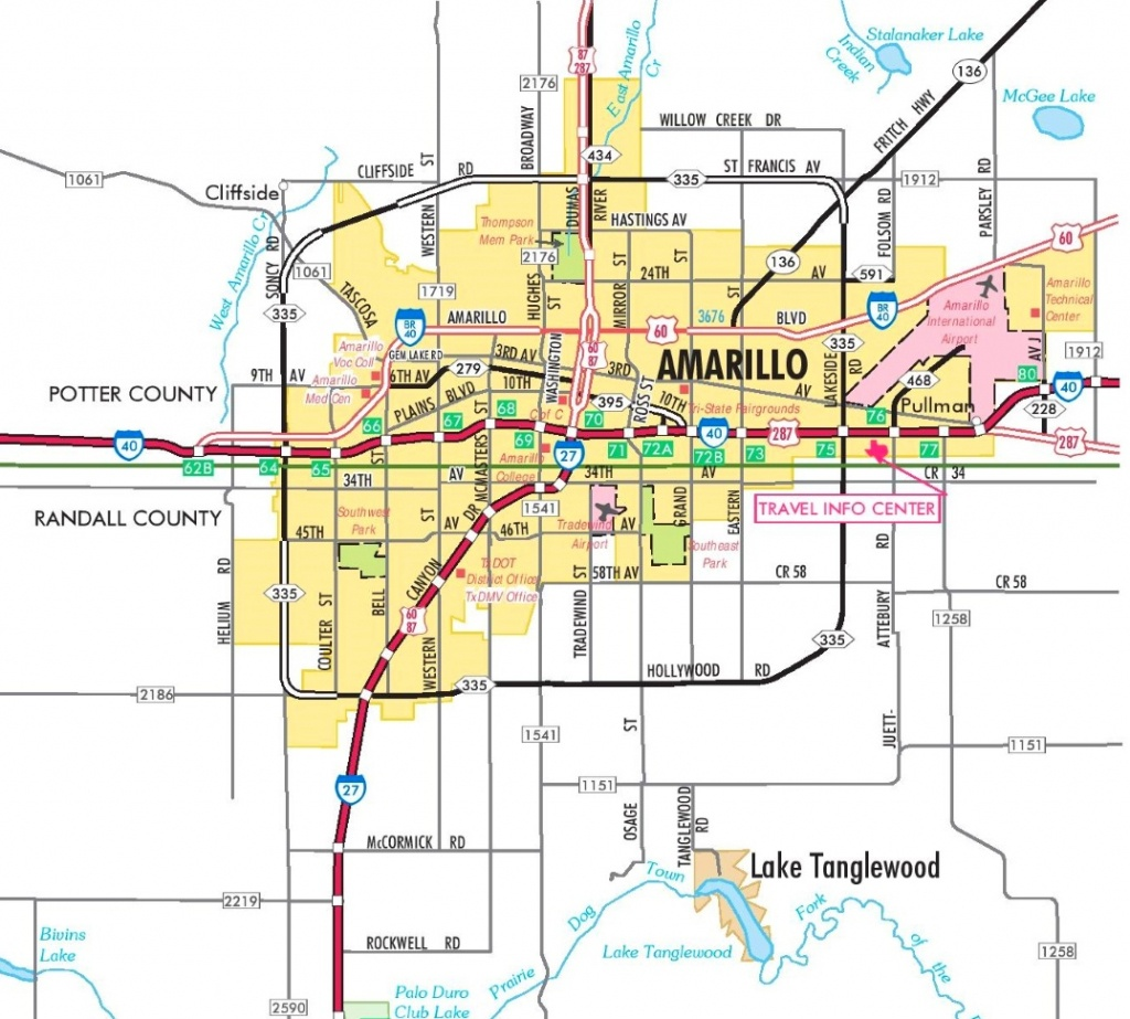 Amarillo Road Map - Where Is Amarillo On The Texas Map