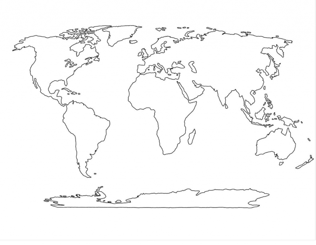 Amazing World Map Template 4   Maps In 2019   World Map Outline - Basic World Map Printable