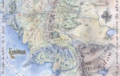 Amazon: Map Of Middle Earth The Lord Of The Rings Vintage Style – Printable Map Of Middle Earth