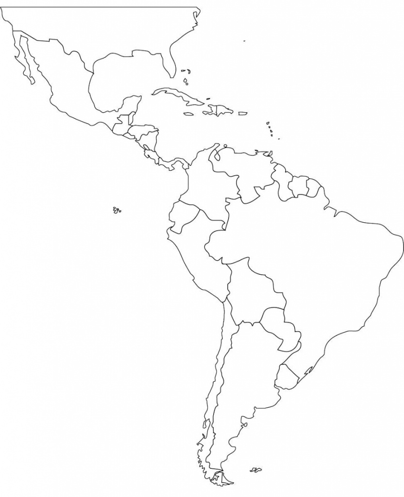 America Blank Map South Free Maps At Of Mexico And Central 832×1024 - South America Outline Map Printable