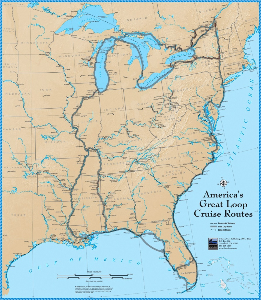 America's Great Loop Cruise Map - Intracoastal Waterway Florida Map