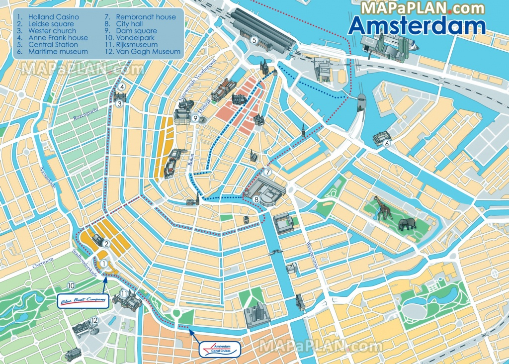 Amsterdam Maps - Top Tourist Attractions - Free, Printable City - Amsterdam Street Map Printable