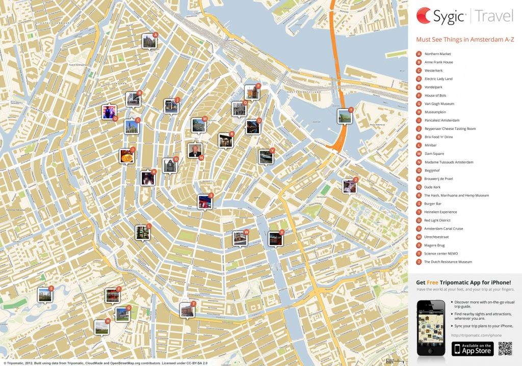 Amsterdam Printable Tourist Map | Sygic Travel - Printable Tourist Map Of Amsterdam