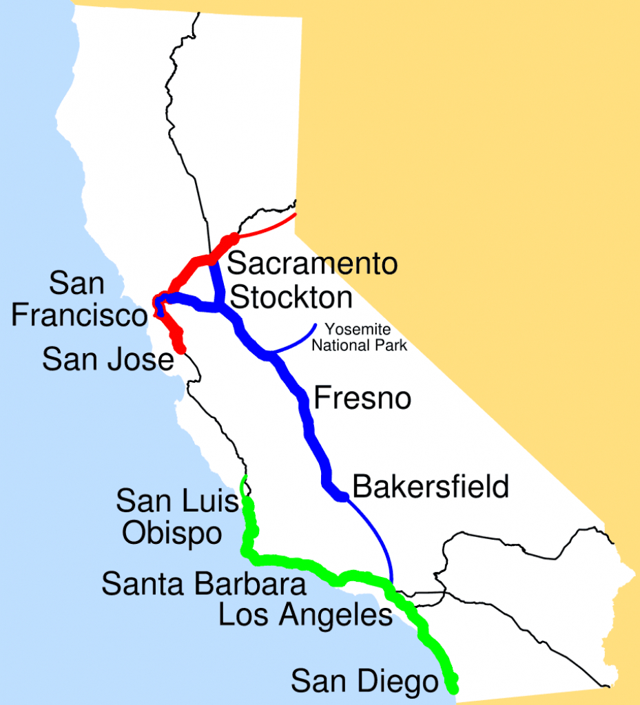Amtrak California Simplified Map • Mapsof - Amtrak Map Southern California