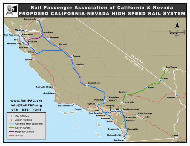 Amtrak Stops In California Map