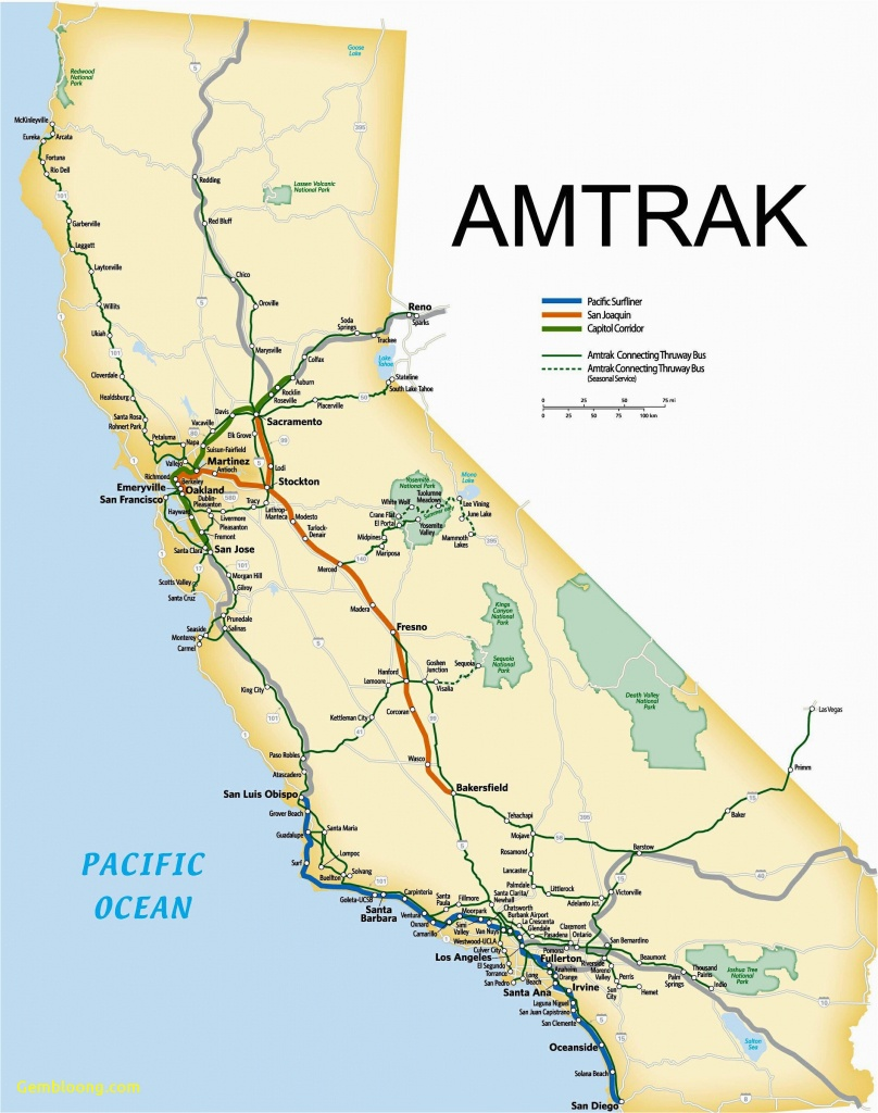 Amtrak Stations In California Map California Amtrak Route Map Www - Amtrak Route Map California