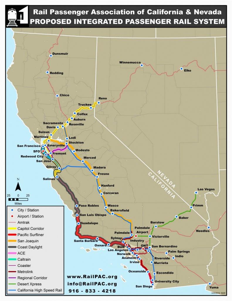 Amtrak Stations In California Map | Secretmuseum - Amtrak California Coast Map