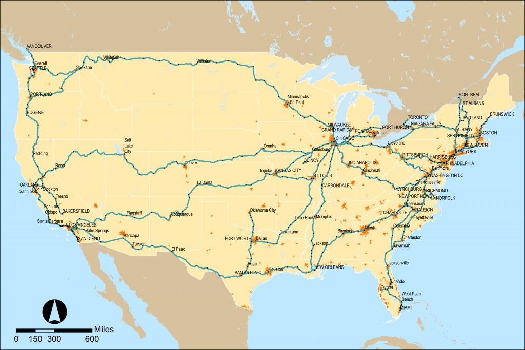 Amtrak - Wikipedia - Amtrak Stops In California Map