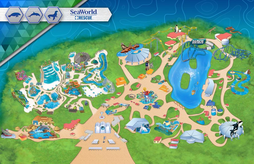 Amusement Parks In The Us Map Themeparkmap Best Of Seaworld San - Seaworld San Antonio Printable Map