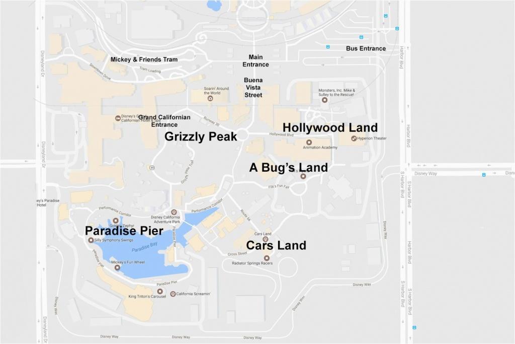 Anaheim California Map Google Maps Of The Disneyland Resort - Map Of Anaheim California And Surrounding Areas